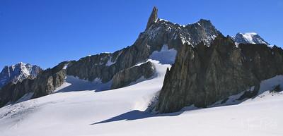 La dent du géant, Valle blanche