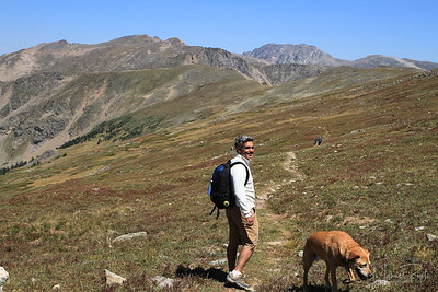 Mau hiking on Continental Divide - Tundra  12,000ft