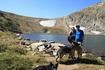 Jane with Conley at Kings Lake