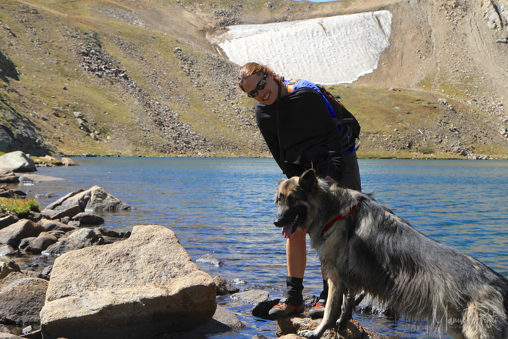 Jane with George at Kings Lake