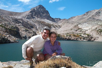 Manuel and Maya at Blue Lake.  We enjoyed a nice picnic off a cliff on the lake and then sat next to the water for about an hour while Sigma played catch in the lake.