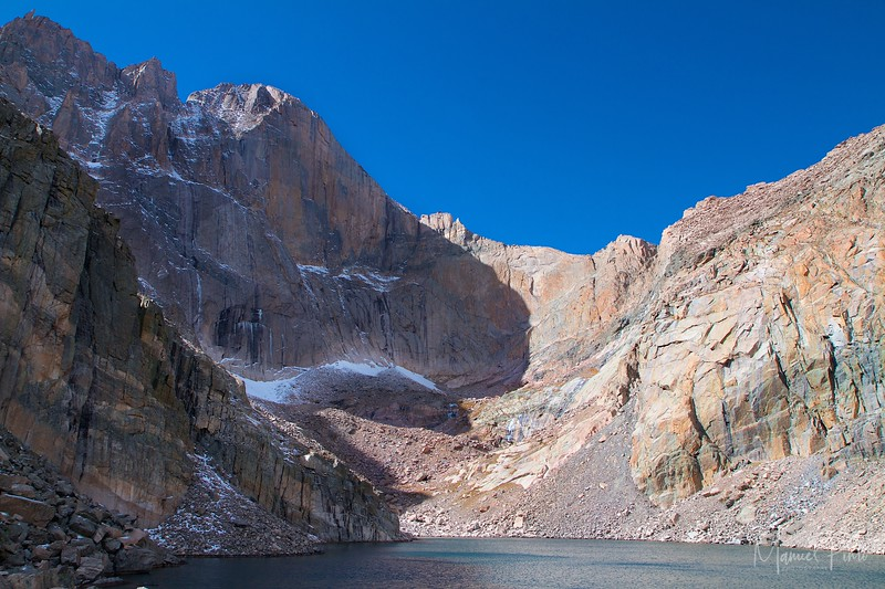 Chasm Lake with Long's Peak towering above