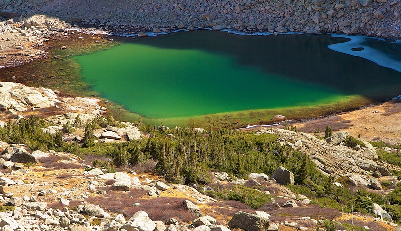 Peacock Pool below Chasm Lake