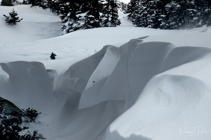 Snow via wind drifts