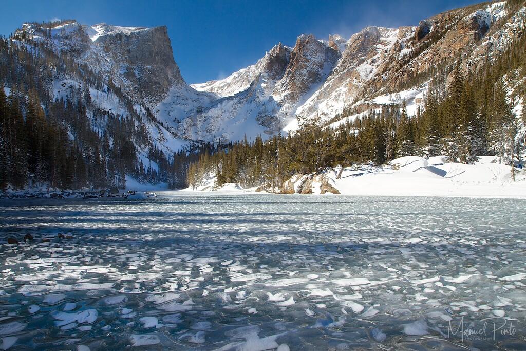 A frozen Dream Lake<br /> Rocky Mountain National Park, Colorado<br /> 2013 February