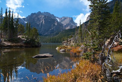 The Loch above Alberta Falls at Rocky Mountain National Park Colorado