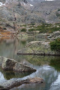 Glass Lake at Rocky Mountain National Park in Colorado