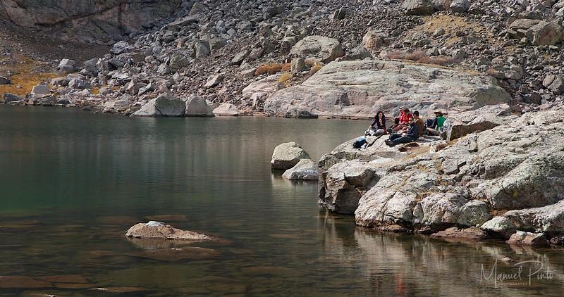 Picnic at Sky Pond Rocky Mountain National Park Colorado