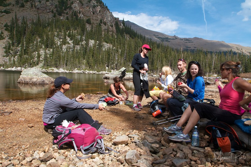 Lunch at Lake Ypsilon