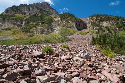 Avalanche corridor - West Maroon Pass Trail