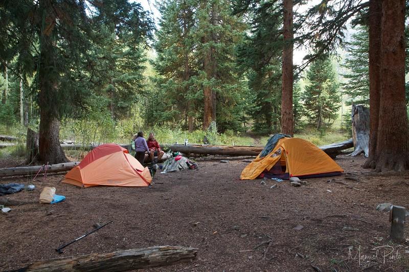La camping - Crater Lake