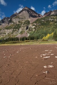 Very dry conditions at Crater Lake