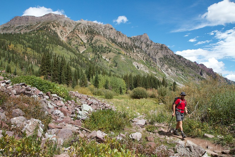 Reiner on the West Maroon Trail
