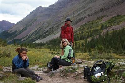 The crew . Maya, Pam and Reiner