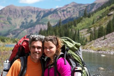 Manuel and Maya above Maroon Lake