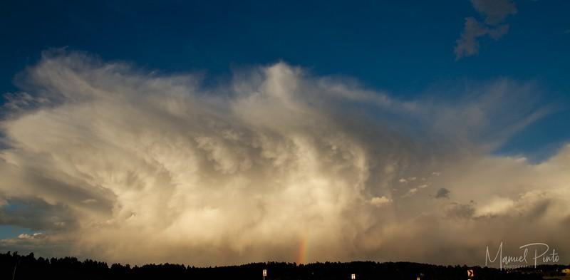 Impressive storm with Rainbow arriving towards Boulder