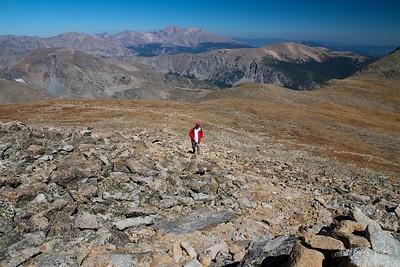 The last stretch...a  steep rocky climb...thin air