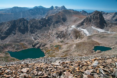 Blue Lake seen from top of Mt Audubon