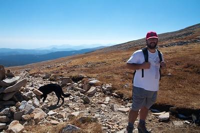 Mt Audubon trail, well above the tree line