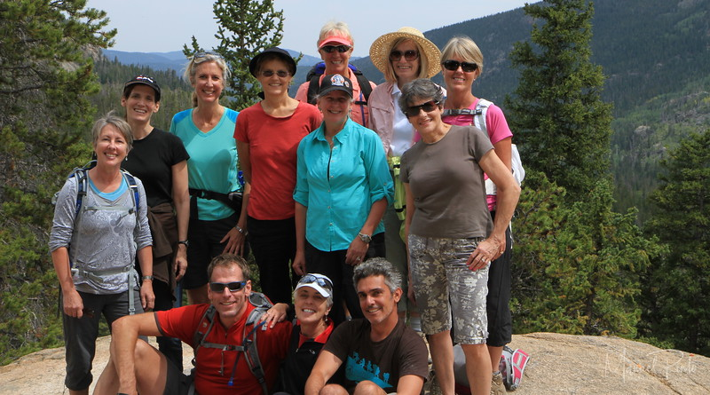 The Bonnie Hiking Ladies with Manuel and Reiner