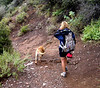 Nancy and Diego.  Also, you can tell the trail was a little muddy from the rain.