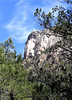 This huge rock face is the focal point of the mountain.  I took a lot of pictures of it from different distances and angles.  Get used to it :-)