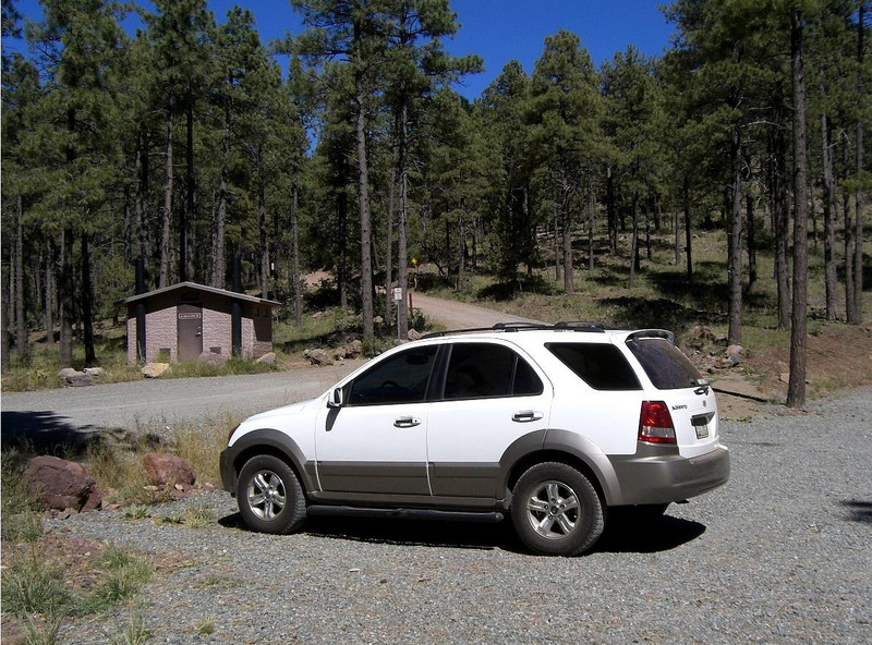 Parked at the trailhead, at approximately 7800 feet.