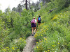 The trail itself was pretty steep too!  We gained over 4000ft on this hike!
