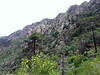 The upper elevations of the mountain range were quite rugged.