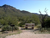 A picnic area near the trailhead for the Pass Mountain Trail at Usery Mountain Park.