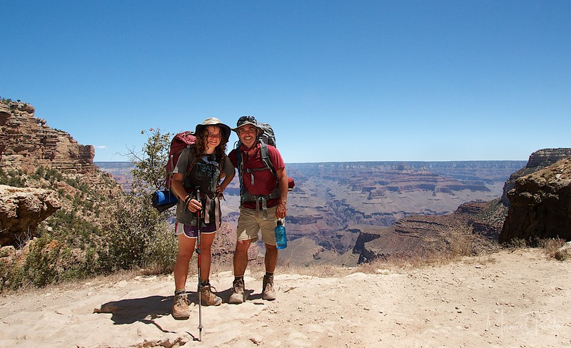 Maya and Manuel  We made it out of the Grand Canyon!!!!