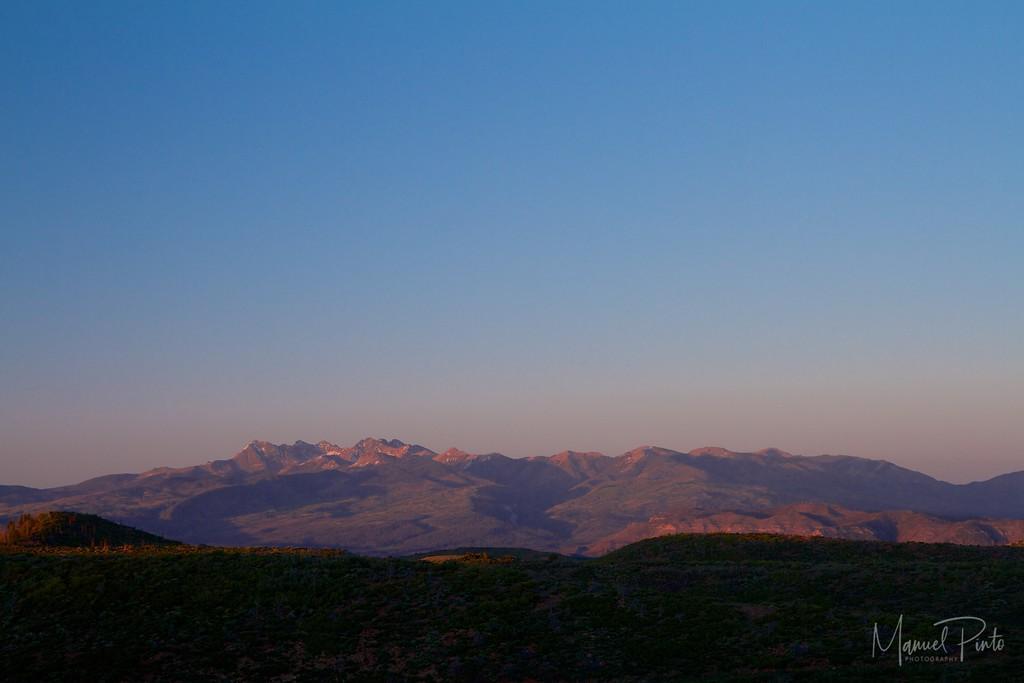 Sunset seen from Mesa Verde