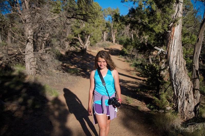 Maya on a trail at Mesa Verde