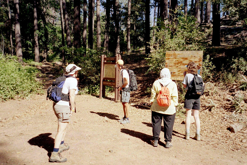 This hiking group was rather small, just five of us.
