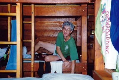 Frank at Zealand Falls Hut