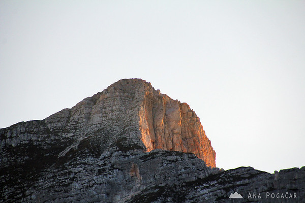 Mt. Krn in the last sun rays
