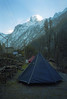 This night's camp was under the shadow of the sacred mountain Machapuchare (Fishtail mountain).