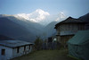 First night camp already had a tremendous view of Annapurna.