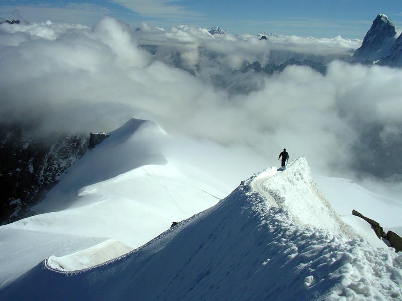 Climbers on the way.