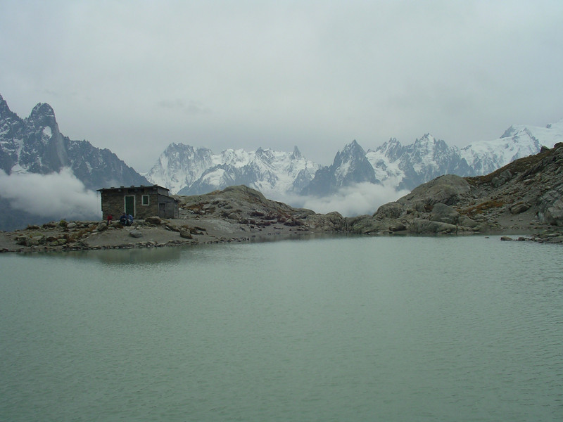 Lac Blanc and the Aguilles du Chamonix.
