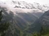 View from the cog railway ride back to Grindelwald