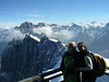 Chamonix , France. On the Aguille du Midi summit, to where we arrived the easy way, by cable car.