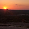 Sunset from the top of Enchanted Rock State Park, Tx