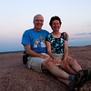 Enjoying the sunset from the top of Enchanted Rock State Park