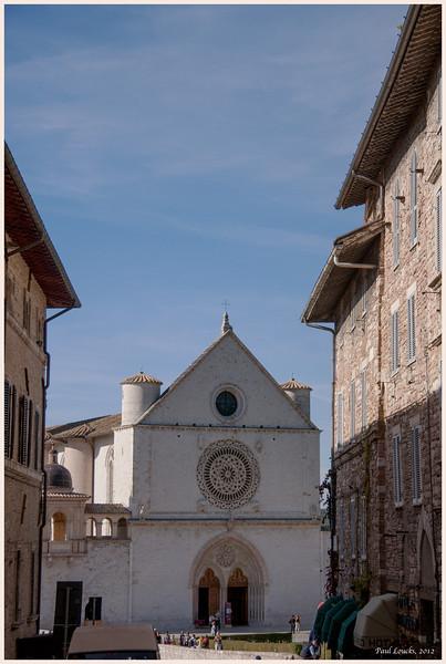 Looking back at the Basilica.