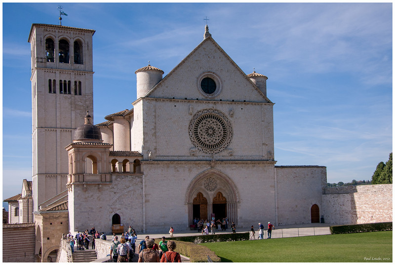 Front of the Basilica facing a lovely green.