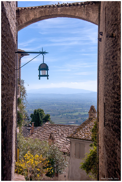 A window on Perugia.