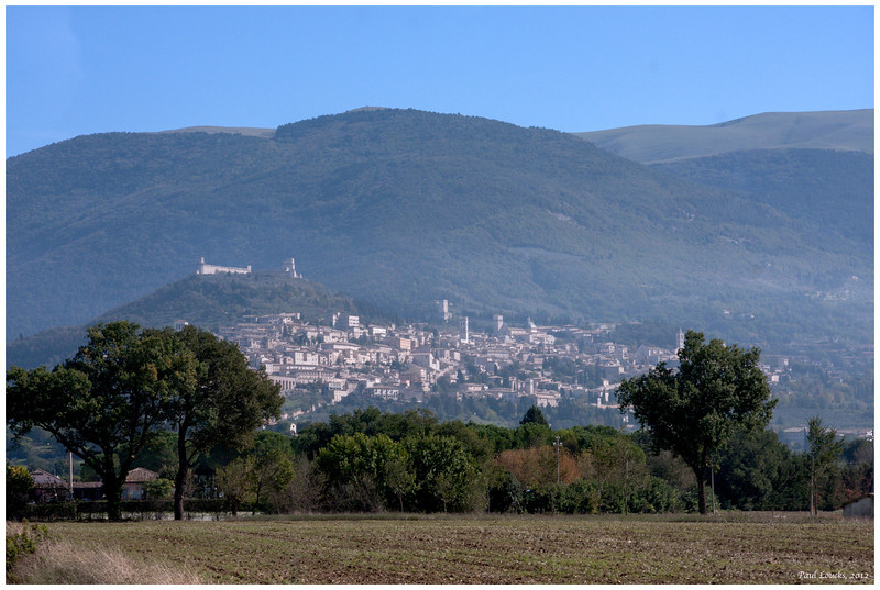 The approach to Mount Subasio and Assisi.