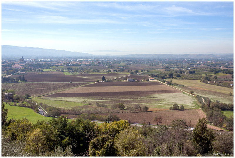 A view of Perugia and the Umbrian plain.