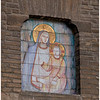 Painting on wooden shingles (or tiles) of the Madonna and Child. It struck me that only in such a warm and sunniy climate could art withstand the out-of-doors.